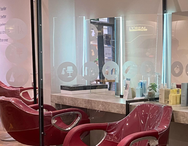 Foxy Salon covid screens